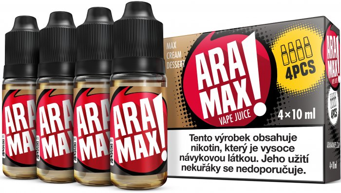 Liquid ARAMAX 4Pack Max Cream Dessert 4x10ml-6mg