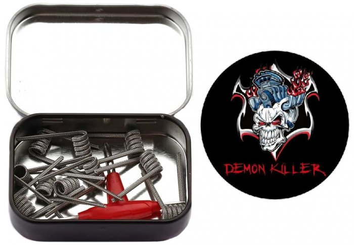 Demon Killer Staple Stagge Red Fused Clapton spirálky 0.3ohm 10ks
