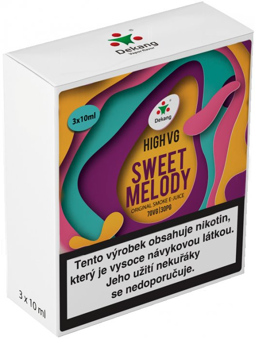 Liquid Dekang High VG 3Pack Sweet Melody 3x10ml - 3mg
