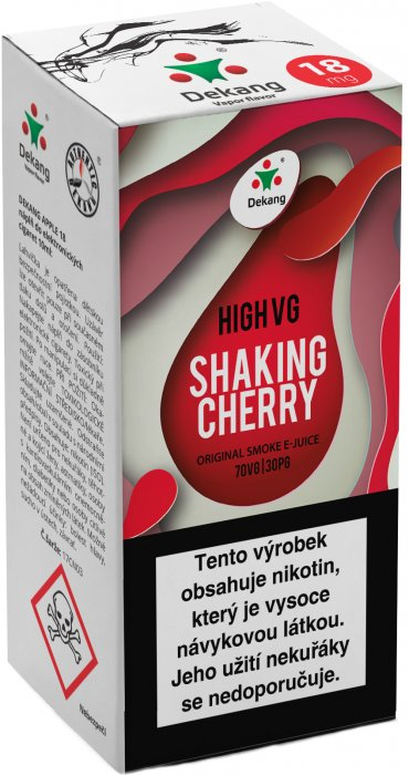 Liquid Dekang High VG Shaking Cherry 10ml - 3mg (Koktejlová třešeň)