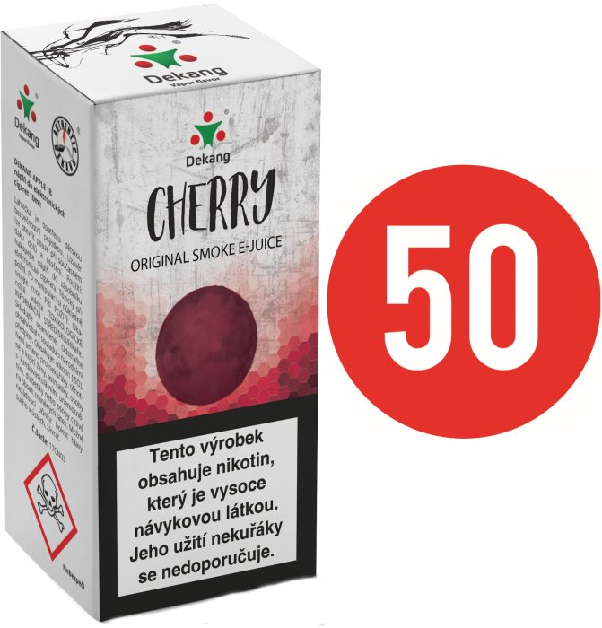 Liquid Dekang Fifty Cherry 10ml - 18mg (Třešeň)