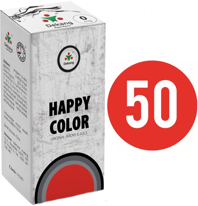 Liquid Dekang Fifty Happy Color 10ml - 0mg