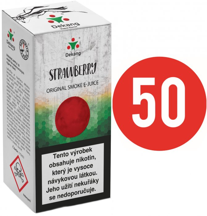 Liquid Dekang Fifty Strawberry 10ml - 11mg (Jahoda)