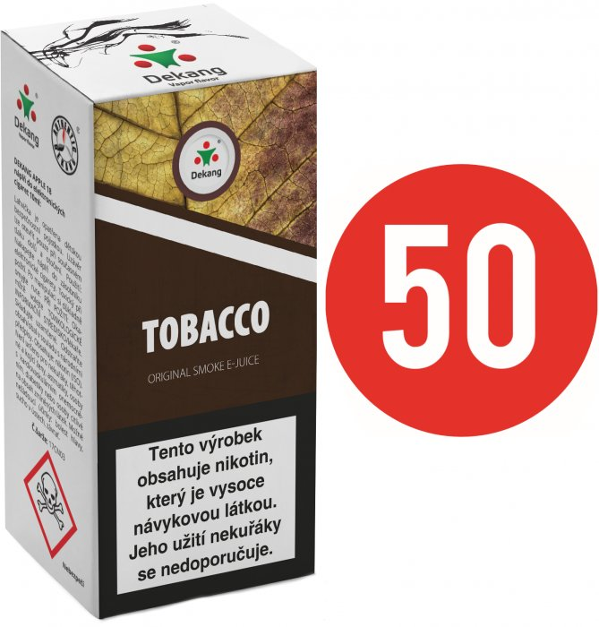 Liquid Dekang Fifty Tobacco 10ml - 18mg (Tabák)