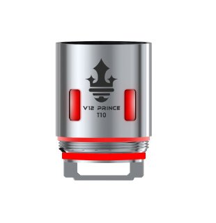 Smoktech TFV12 Prince V12 Prince - T10 žhavicí hlava 0,12ohm Red Light