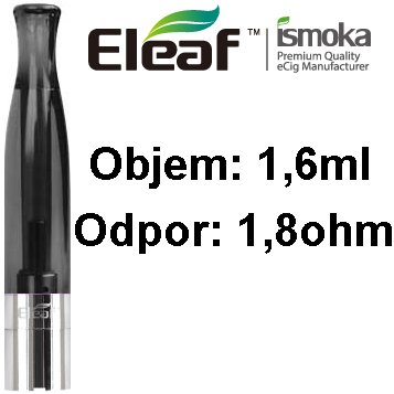 iSmoka-Eleaf BCC-CT clearomizer 1,6ml 1,8ohm Black