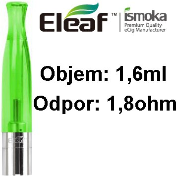 iSmoka-Eleaf BCC-CT Clearomizer 1,6ml 1,8ohm Green
