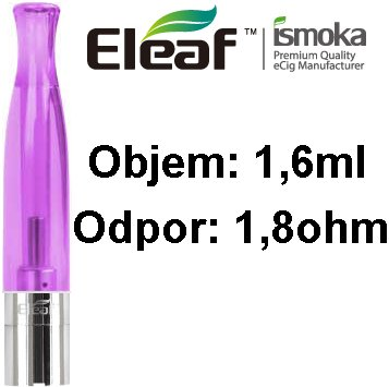 iSmoka-Eleaf BCC-CT clearomizer 1,6ml 1,8ohm Purple