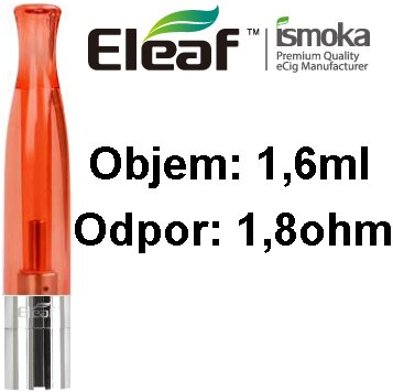 iSmoka-Eleaf BCC-CT clearomizer 1,6ml 1,8ohm Red