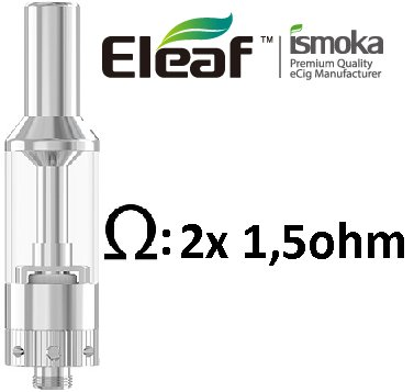 iSmoka-Eleaf GS AIR clearomizer 2,5ml Silver