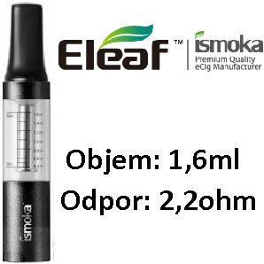 iSmoka-Eleaf Mini BCC clearomizer 2,2ohm 1,6ml Clear-Black - bulk