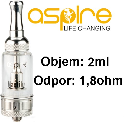 aSpire Nautilus Mini BVC clearomizer 2ml Clear