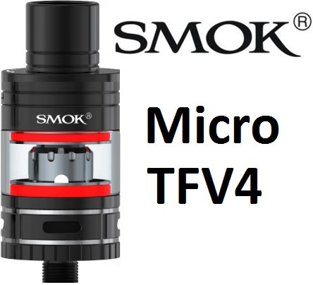 Smoktech Micro TFV4 clearomizer Black
