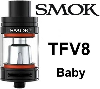Smoktech TFV8 Baby clearomizer Black