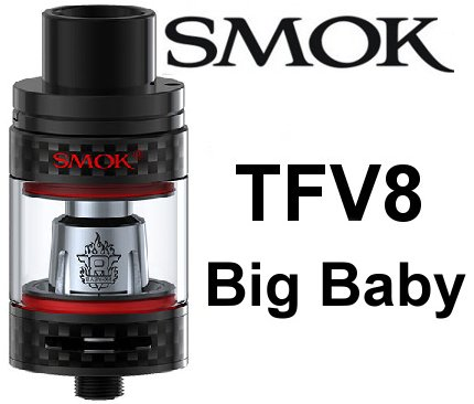 Smoktech TFV8 Big Baby clearomizer Carbon Black