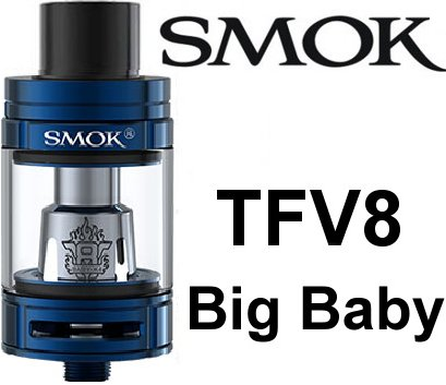 Smoktech TFV8 Big Baby clearomizer Blue