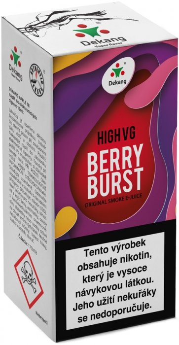Liquid Dekang High VG Berry Burst 10ml - 3mg (Lesní ovoce s jablkem)
