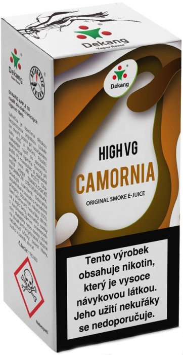 Liquid Dekang High VG Camornia 10ml - 6mg (Tabák s ořechy)