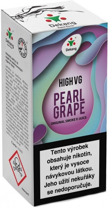 Liquid Dekang High VG Pearl Grape 10ml - 3mg (Hrozny s mátou)