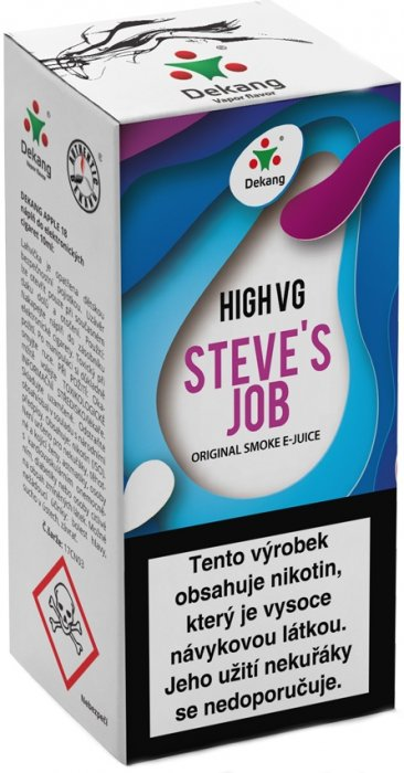 Liquid Dekang High VG Steve´s Job 10ml - 1,5mg (Sladké a kyselé jablko)