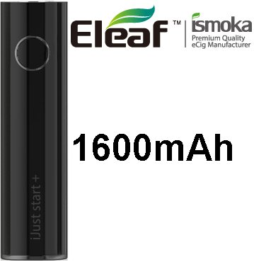 iSmoka-Eleaf iJust Start Plus baterie 1600mAh Black