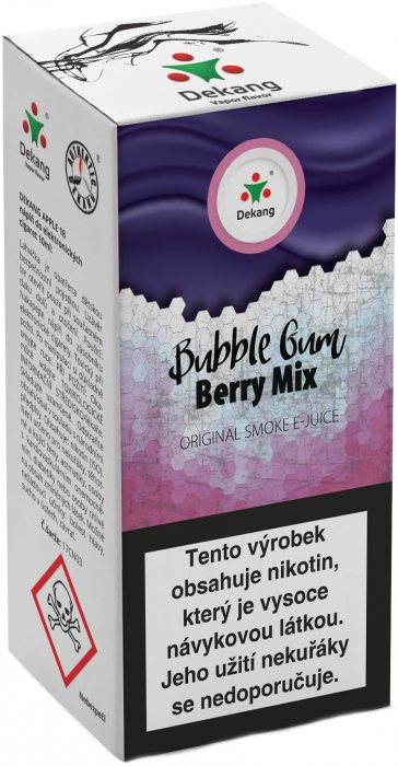 Liquid Dekang Bubble Gum Berry Mix 10ml - 16mg (Žvýkačka Lesní Plody)