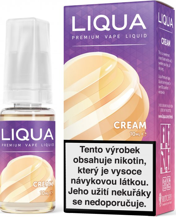 Liquid LIQUA CZ Elements Cream 10ml-18mg (Smetana)