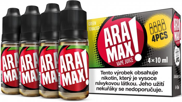 Liquid ARAMAX 4Pack Green Tobacco 4x10ml-6mg