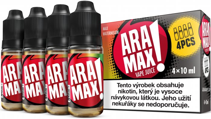 Liquid ARAMAX 4Pack Max Watermelon 4x10ml-6mg