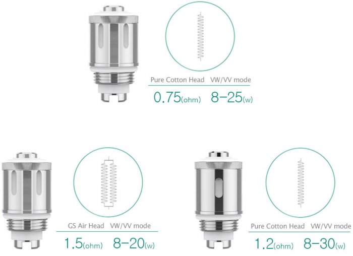 iSmoka-Eleaf GS AIR 2 19mm clearomizer Black