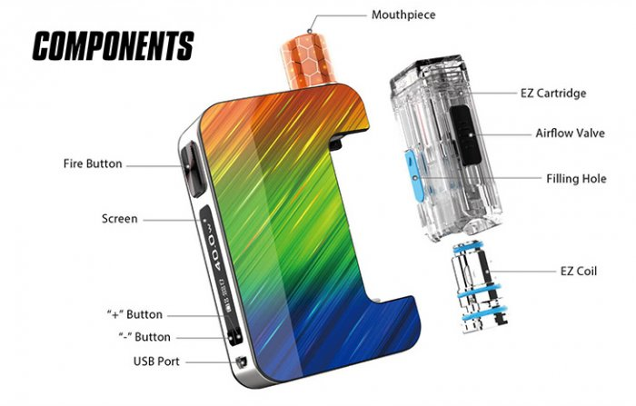 Joyetech EXCEED Grip Pro 40W Full Kit 1000mAh Gun Metal