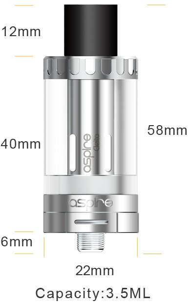 aSpire Cleito Clearomizer 3,5ml Silver